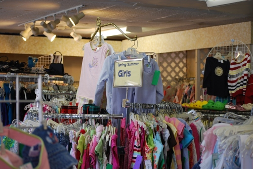 "Children grow so quickly that there was always a market for their ""gently worn"" clothing.  Now more and more women are buying ""vintage"" clothing for themselves.  Photo by Cathy Sherman."