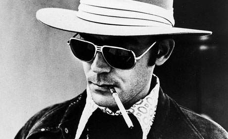 Hunter S. Thompson, Gonzo journalist.
