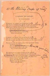 "This is a rough draft of Walt Whitman\'s poem, "" width="