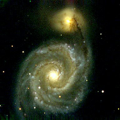 "Spiral Galaxy M51.  It's a vast universe out there, but sometimes we think it's all about ""me."""