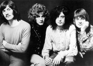 Led Zeppelin in 1969 at the beginning of the band's career.