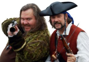 Ol' Chumbucket and Cap'n Slappy, founders of International Talk Like a Pirate Day.