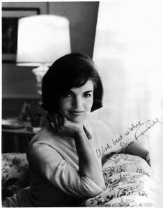 After Kennedy was assassinated, I mailed a letter of condolence to Jackie Kennedy.  I was deeply shocked by his death.  I received this photograph in return.  I was eleven years old.