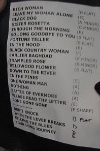 This is the set list for the Krauss-Plant September 23, 2008, concert at Starlight. The concert didn't follow this list exactly, but it's close enough.