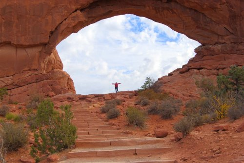You feel really small at Arches National Park.