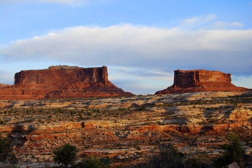 "The Monitor and the Merrimack, in Canyonlands National Park, were named after ""iron-clad"" ships that battled each other during the Civil War."