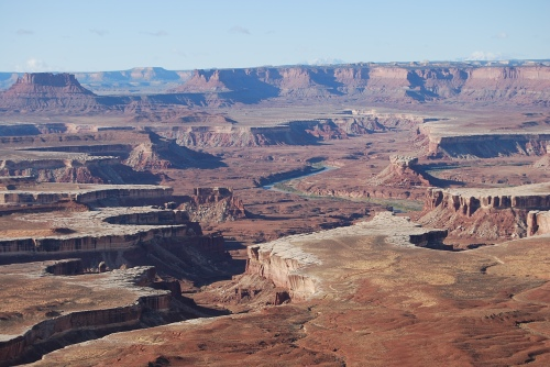 In Canyonlands National Park, the Green River curves south where it will soon meet the Colorado River and lose its identity.