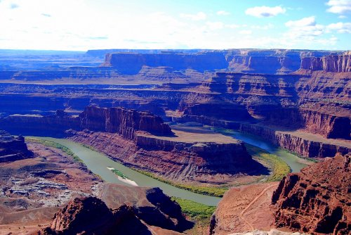 The Colorado River takes a sharp turn at Dead Horse Point State Park.