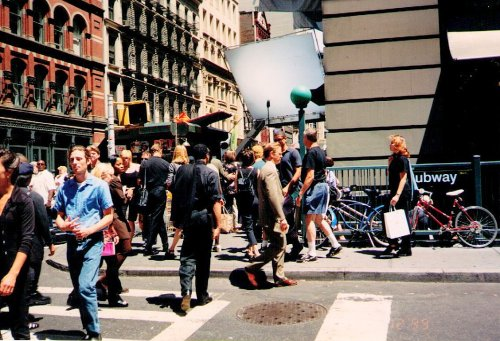 "These extras walked this street for a couple of hours for a scene in ""28 Days"" that I never saw in the movie."