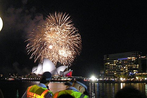 Sydney Opera House on New Year's Eve 2008. Photo by Anita Doll.