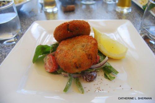 Crab Cakes in Tasmania.