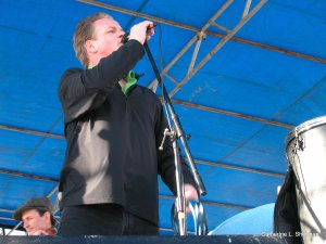 Here, Ian is singing with The Elders at the St. Patrick's Day festivities in Westport area of Kansas City,  Missouri, on March 17, 2005.