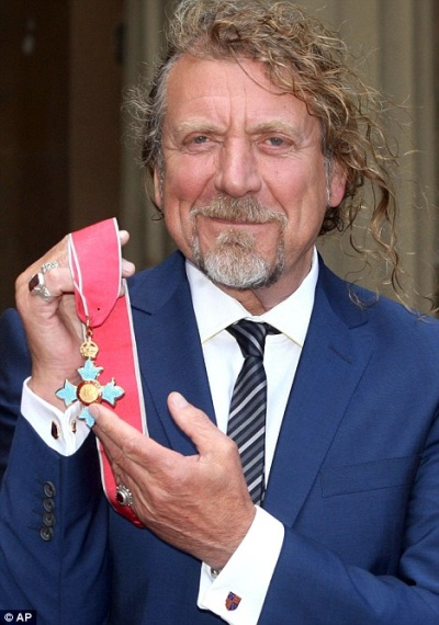 Robert Plant Receives Commander of the British Empire Award.