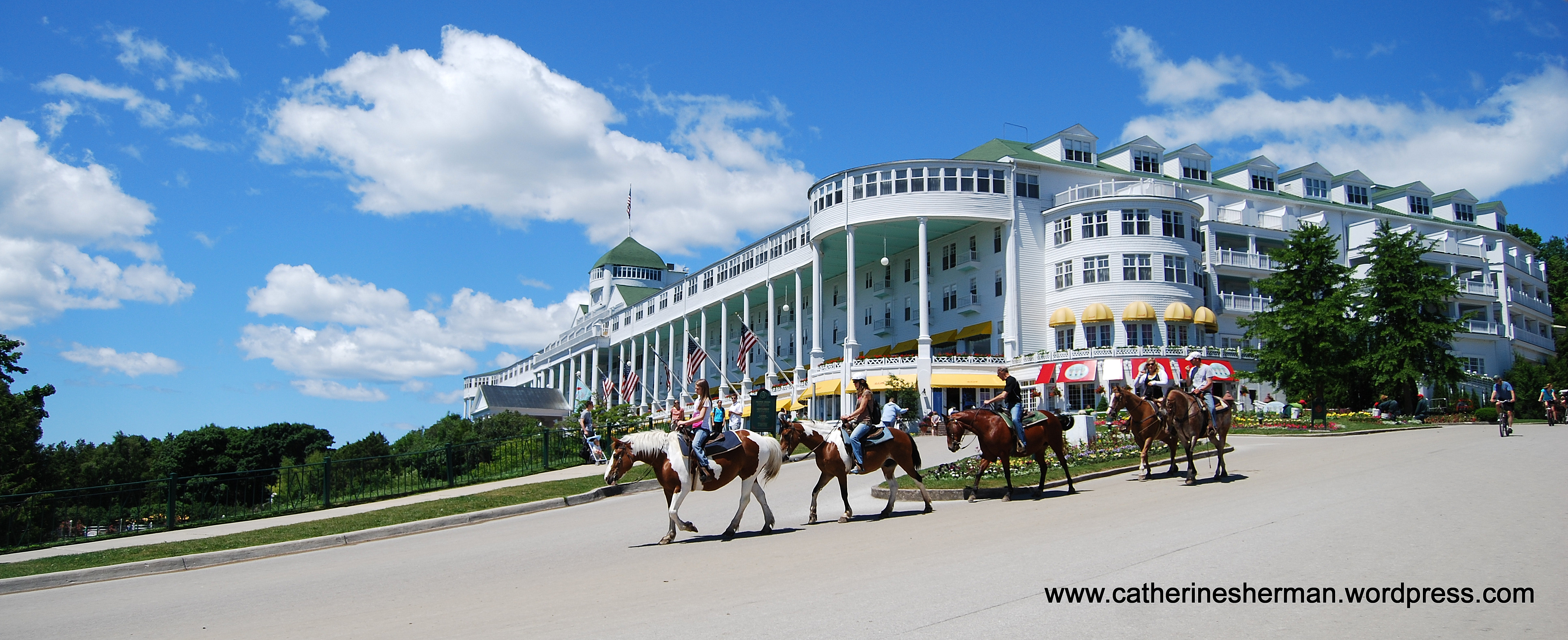 Mackinac Island In Michigan Grand Hotel