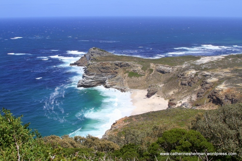 Cape of Good Hope, looking northwest  from Cape Point.
