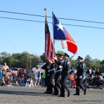 Color Guard of U.S. and Texas Flags