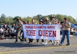 Boy Scouts Carrying Rose Queen Banner
