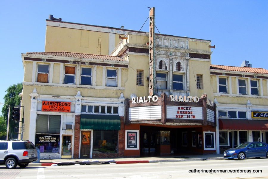 The Rialto Theatre, South Pasadena, California, photographed in September 2009. Opened in 1925, this theater is now closed.