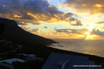 Sunset over the Atlantic Ocean, Camps Bay, South Africa