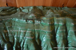 A model of Mount Magazine is on display in the Lodge.