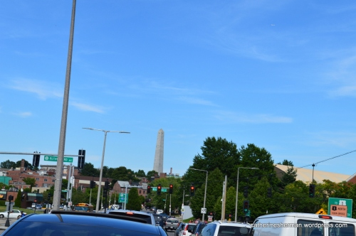 My daughter, son-in-law and I were stuck in traffic during Boston rush hour after leaving the Museum of Science. That's when I saw the Bunker Hill obelisk.