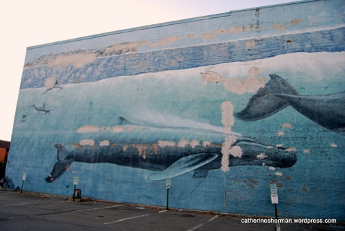Whale Mural in Portsmouth New Hampshire.