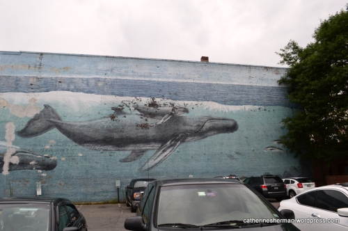 Whale Mural in Portsmouth, New Hampshire.