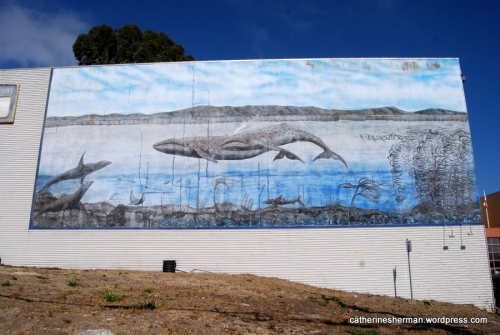 Whale Mural in Monterey, California.