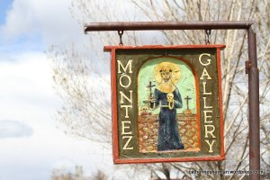 The Montez Gallery occupies an old church in Truchas, New Mexico.