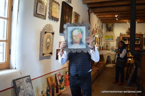 Rey Montez is a handsome man, but you'll have to visit his gallery in Truchas, New Mexico, to see for yourself. He doesn't like to be photographed!  His Montez Gallery showcases a variety of art, including Spanish colonial art, religious art and contemporary art.