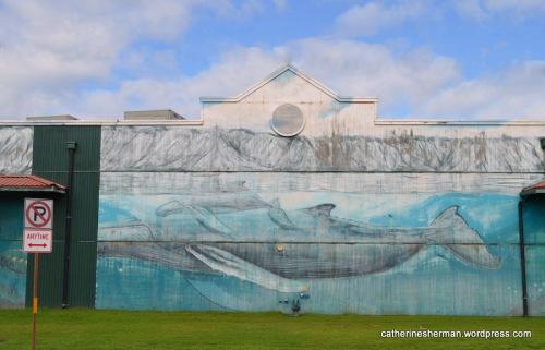 Whale mural, Kapa'a, Kauai.