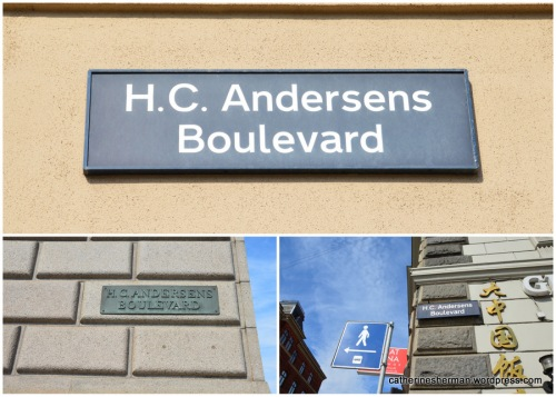 A prominent street in Copenhagen, Denmark, is named for the author Hans Christian Andersen. The boulevard runs along Tivoli Gardens amusement park and Copenhagen's City Hall.