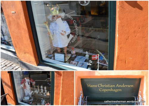 "A store in the Nyhavn area of Copenhagen, Denmark, is dedicated to merchandise based on the fairy tales of Hans Christian Anderson.  Here are ""The Emperor's New Clothes"" and ""The Tinderbox."""