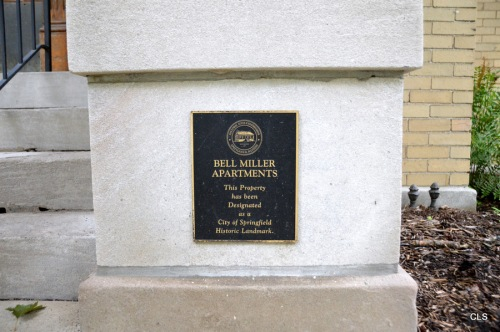 Bell Miller Apartments, City of Springfield (Illinois) Historic Landmark.