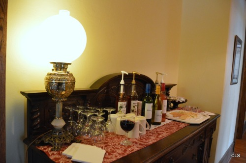 Wine and cheese are offered every evening.
