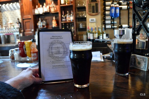 I like dark beer! This was one of the dark hand-crafted beers at Obed & Isaac's.