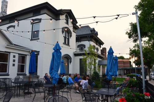 The patio at Obed & Isaac's Microbrewery and Eatery, Springfield, Illinois.