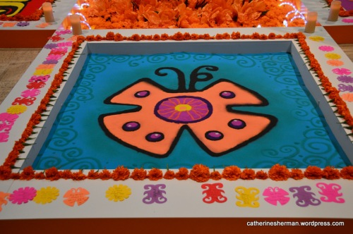 Butterfly Sand Painting