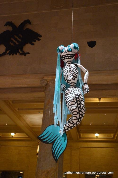 Paper Mache Mermaid Skeleton