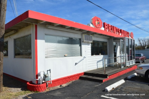 Brint's Diner (actually Terry's Diner) in Wichita, Kansas, is a Double Deluxe model of a Valentine Diner building.