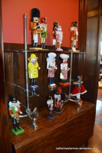 Nutcrackers for sale at the Webster House