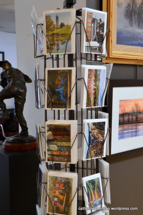 Some of my greeting cards available for sale at Images Art Gallery, 7320 W. 80th Street, Overland, Park, Kansas.