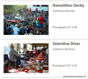 "My Photographs in 2017 Arti Gras Juried Art Show, Leawood, Kansas. ""Valentine Diner"" won first place in photography."