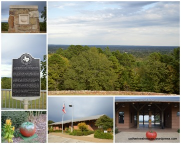 Love's Lookout Park is north of Jacksonville, Texas. It features a rest stop, a great view and concrete tomatoes.