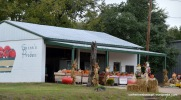 In the fall, this Jacksonville produce stand featured tomatoes along with pumpkins.