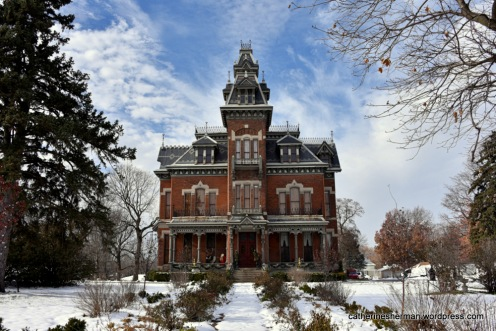 The Vaile Mansion in Independence, Missouri, is decorated every Christmas season with a Victorian theme and is open for tours.