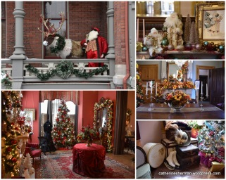 Scenes from the 2018 Vaile Mansion Victorian Christmas Romance. Each room is decorated, even the bathrooms.